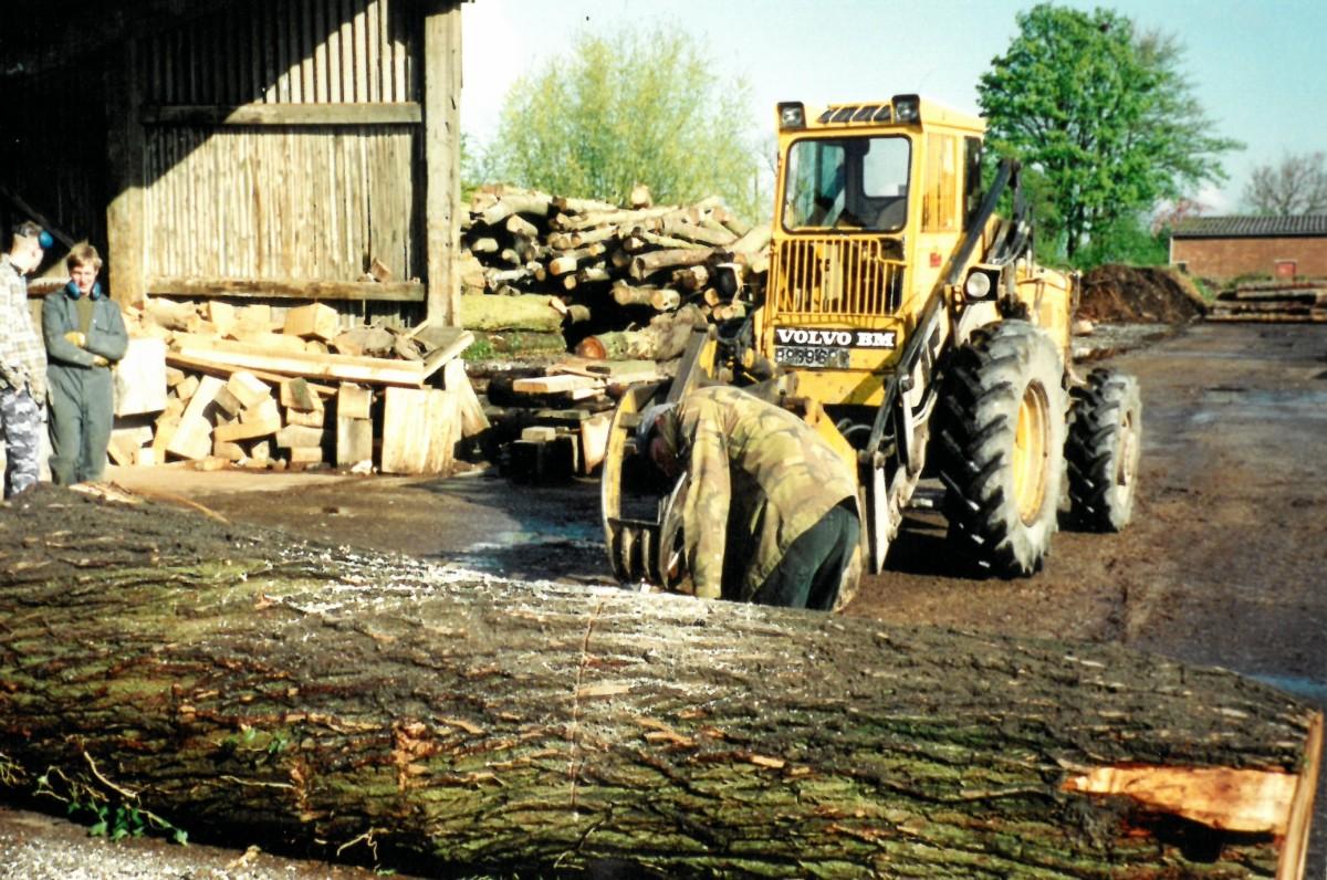 JS Wrights log yard